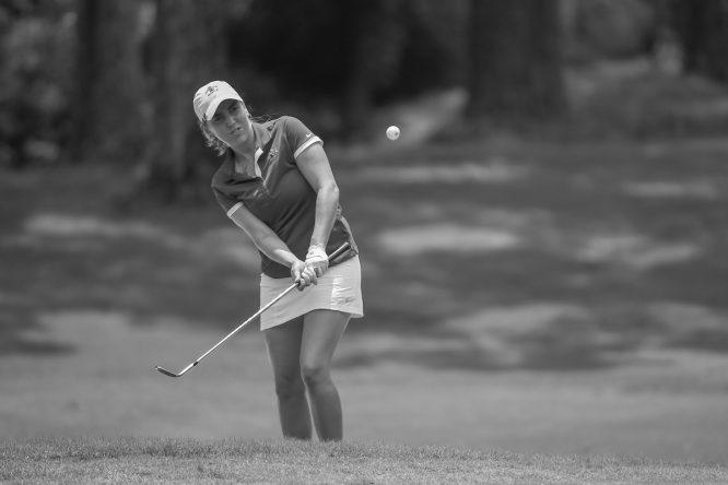 Celia Barquín, durante el pasado US Open © Golffile | Ken Murray