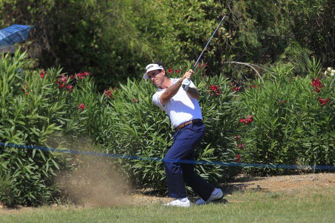 Gonzalo Fernández Castaño, en el hoyo 9 durante su última ronda en el Portugal Masters. © Golffile | Thos Caffrey