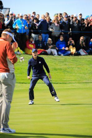 El equipo estadounidense se agarra a la senda de Justin Thomas. Golffile | Phil Inglis