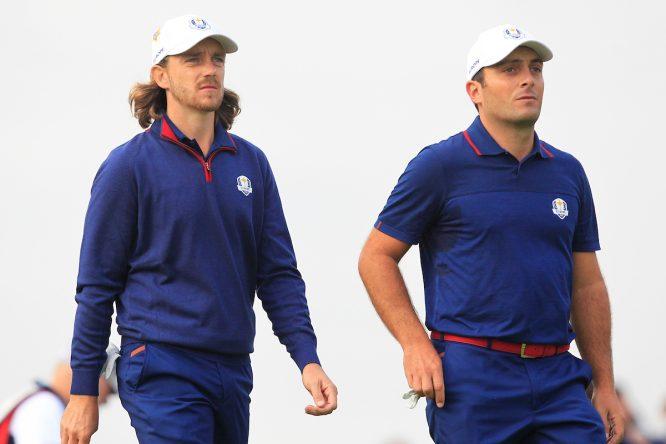Francesco Molinari y Tommy Fleetwood son los únicos jugadores que han hecho pleno en la primera jornada. © Golffile | Thos Caffrey