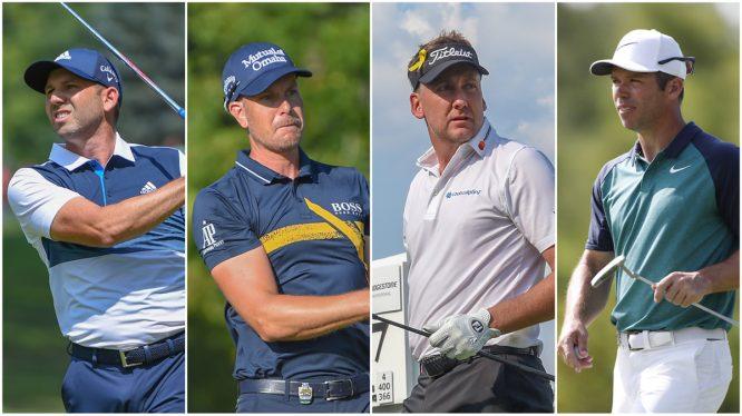 Sergio, Stenson, Poulter y Casey. © Golffile