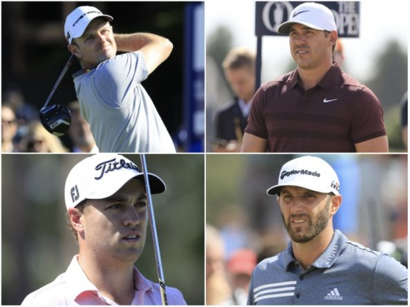 Justin Rose, Brooks Koepka, Justin Thomas y Dustin Johnson. © Golffile