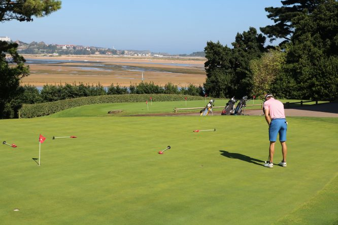 Putting green del Real Golf de Pedreña.