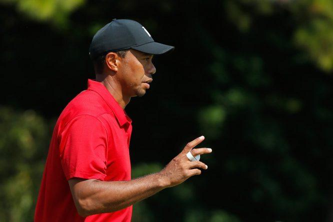 Tiger Woods, durante su última ronda en el Tour Championship. © PGA Touer