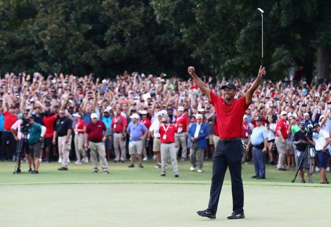 Tiger Woods celebra su victoria. © PGA Tour
