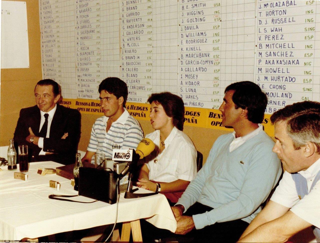 Olazábal y Ballesteros, en el Open de España de 1985. ©María Acacia López-Bachiller