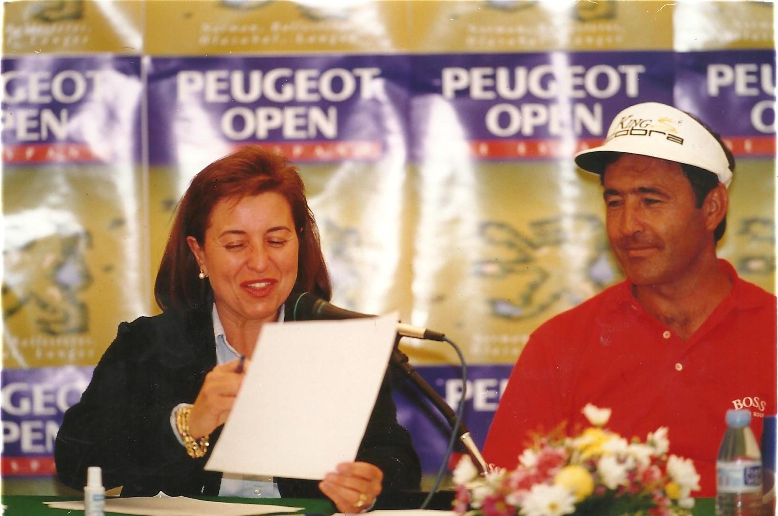 Mariaca, junto a Seve en el Open de España de 1997.