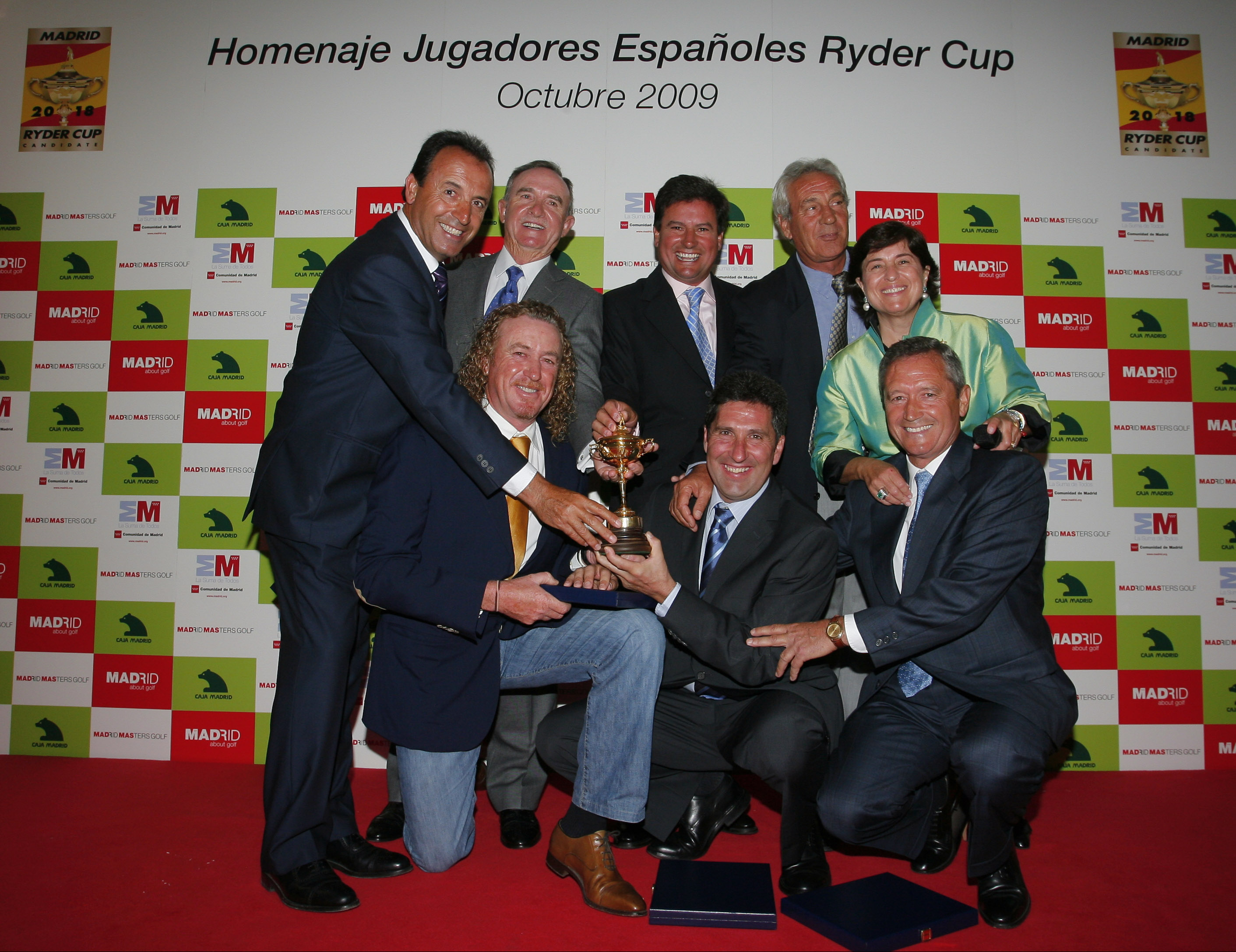 Homenaje a los españoles en la Ryder Cup durante el Madrid Masters de 2009.