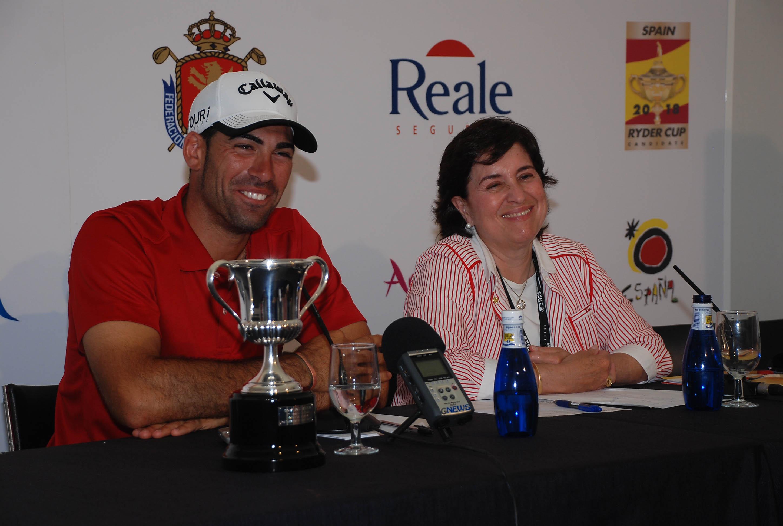 Mariaca, junto a Álvaro Quirós, ganador del Open de España en 2010. © Fernando Herranz