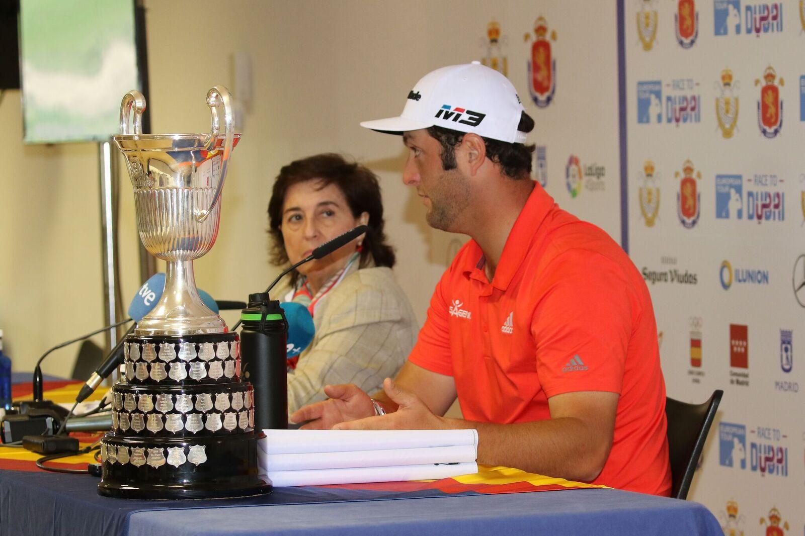 Mariaca, este año junto a Jon Rahm tras ganar el Open de España en Madrid. © Fernando Herranz
