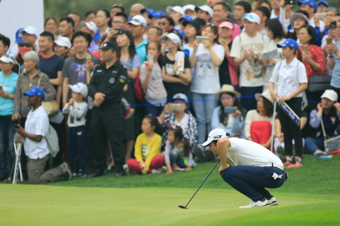 Adrián Otaegui, durante el pasado Volvo China Open. © Phil Inglis | Golffile