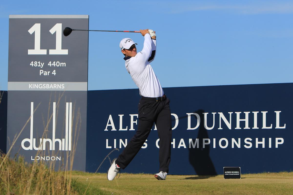 Andrea Pavan durante la segunda jornada en Kingsbarns. © Golffile | Thos Caffrey