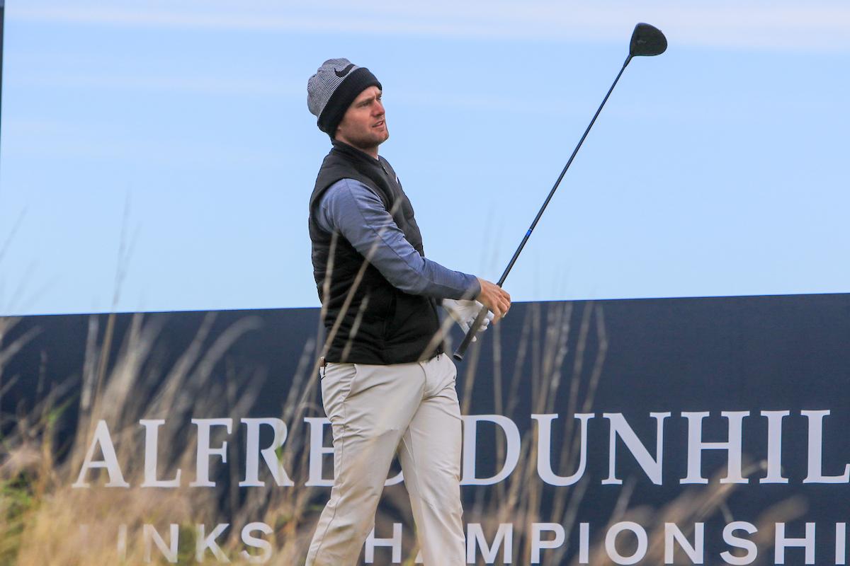 Lucas Bjerregaard en la segunda jornada del Alfred Dunhill Links. © Golffile | Thos Caffrey