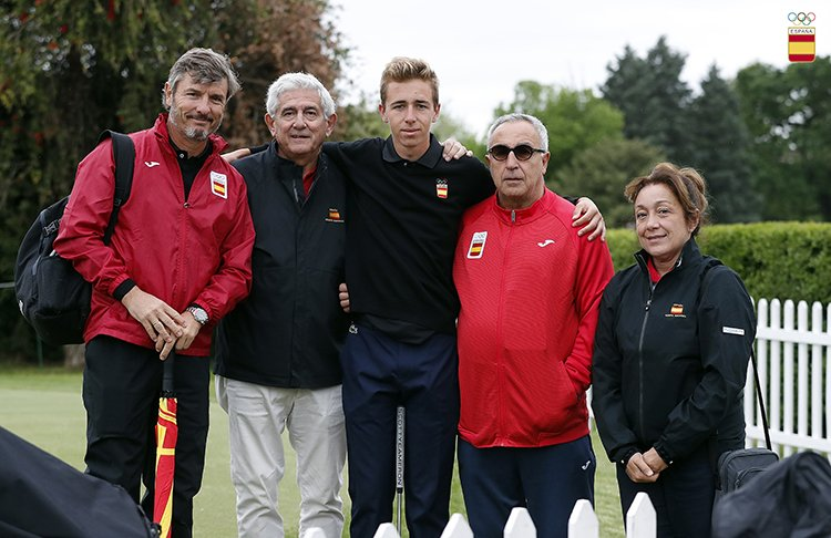 David Puig con Ignacio Gervás y Gonzaga Escauriaza. © COE