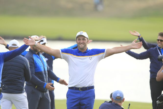 Jon Rahm el domingo en el Golf National. © Golffile | Thos Caffrey