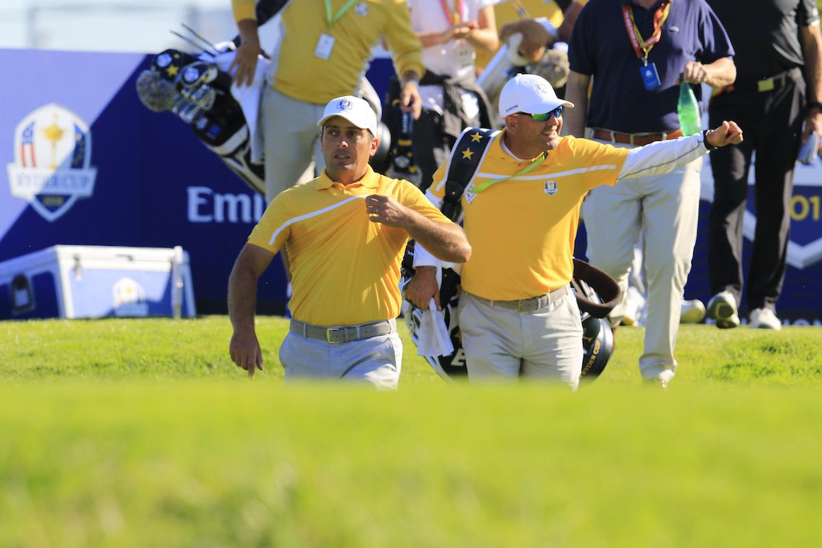 Con Francesco Molinari. © Golffile | Eoin Clarke