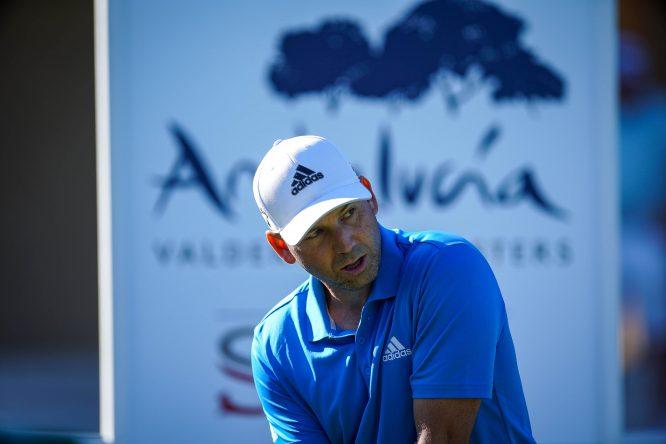 Sergio García, hoy durante la ronda de prácticas en el Andalucía Valderrama Masters. © RC Valderrama