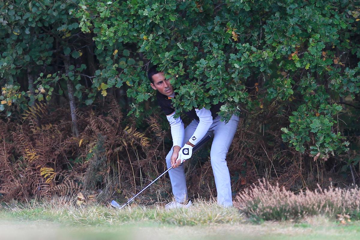 Carlos Pigem, en el hoyo 2 en esta tercera jornada. © Thos Caffrey | Golffile