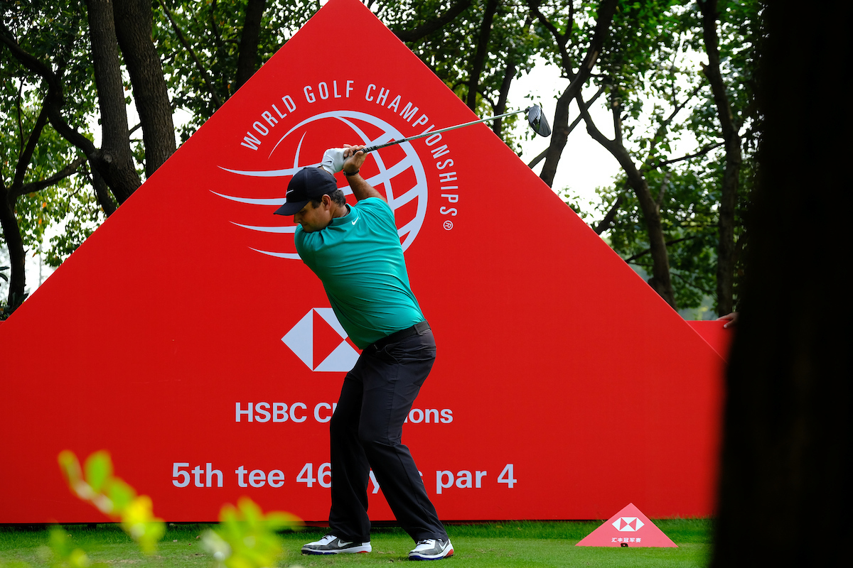 Patrick Reed durante el Pro Am del WGC HSBC Champions. © Golffile   Phil Inglis