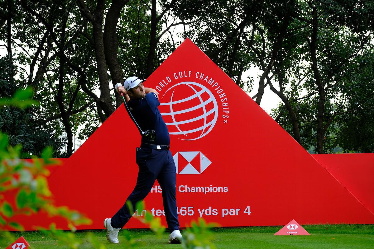 Jon Rahm esta semana en el Sheshan International. © Golffile   Phil Inglis