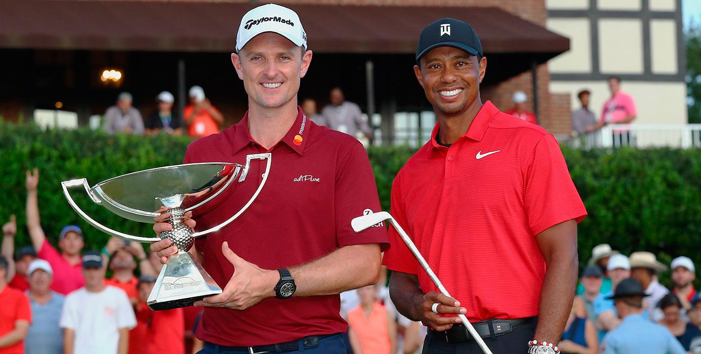 Rose y Tiger, en el TOUR Championship © PGA Tour