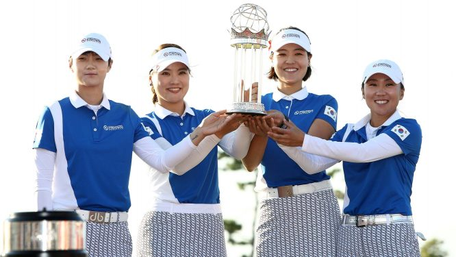 Sung Hyun Park, So Yeon Ryu, In Gee Chun e In Kyung Kim han sido el cuarteto ganador de Corea en la International Crown. © LPGA Tour