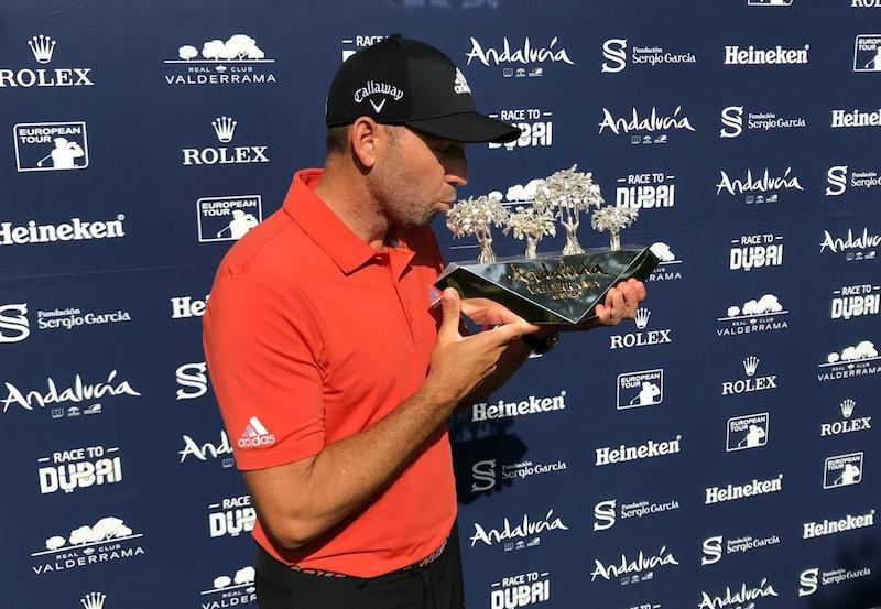 Sergio García gana por tercera vez consecutiva el Andalucía Valderrama Masters