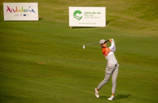 Azahara Muñoz, durante la segunda ronda del Andalucía Costa del Sol Open de España. © Felipe Pérez