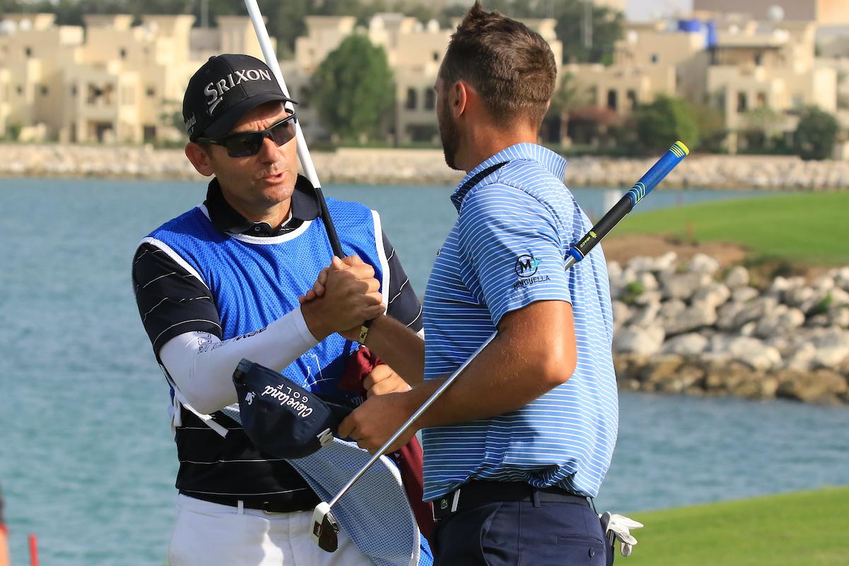 Adriá Arnaus e Ignacio Garrido, durante la tercera ronda. © Golffile | Phil Inglis