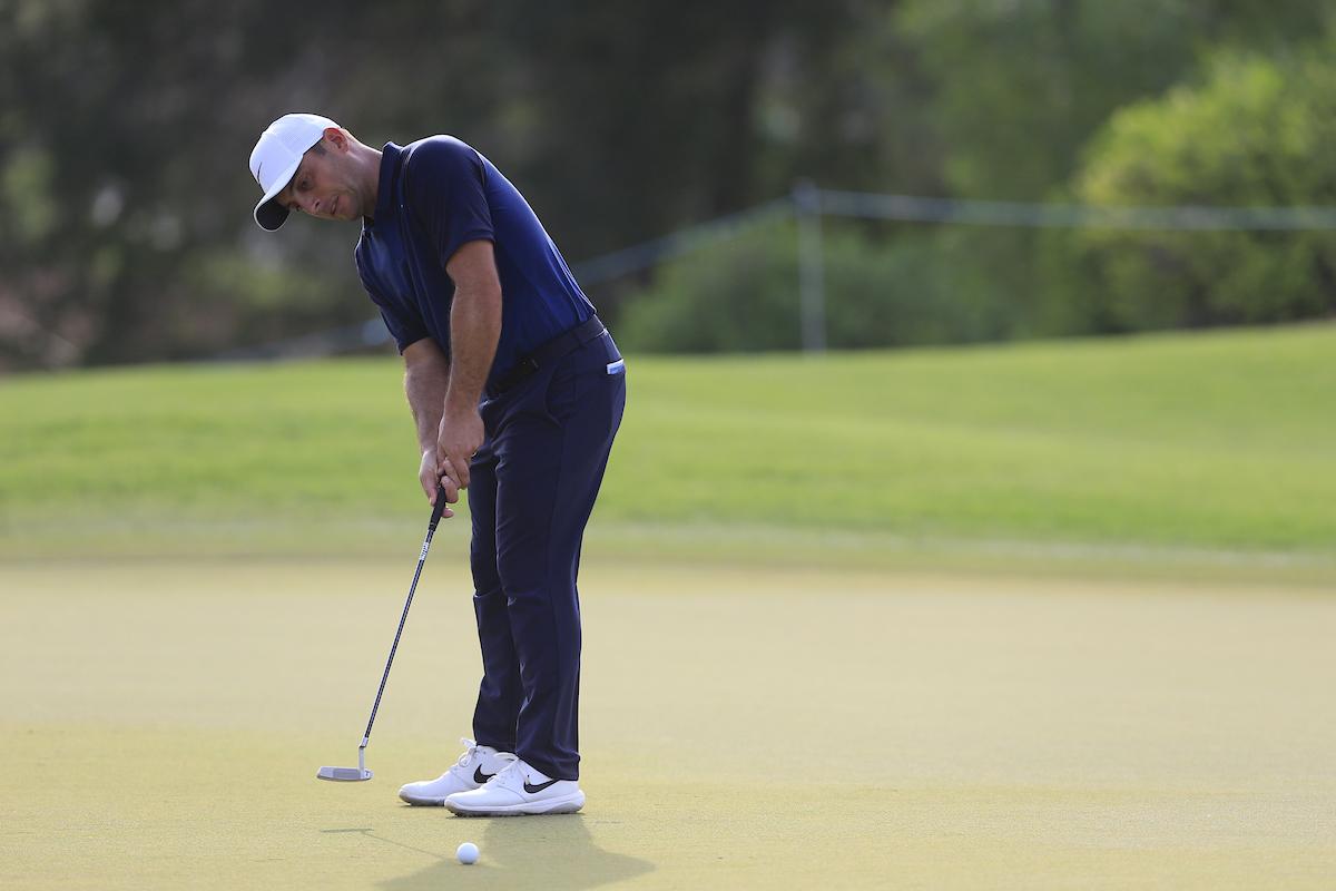 Francesco Molinari la semana pasada en el DP World Tour Championship. © Golffile | Fran Caffrey