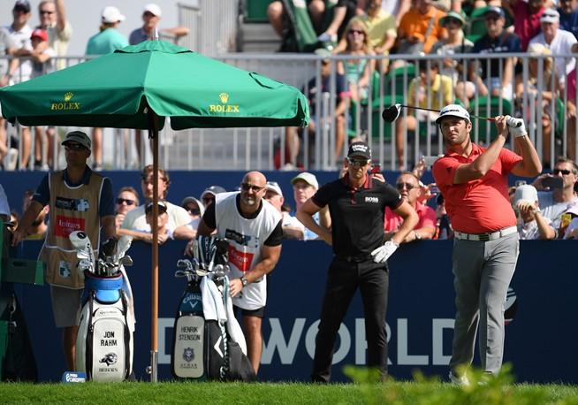 Jon Rahm en la ronda final en el Jumeirah Golf Estates. ©European Tour