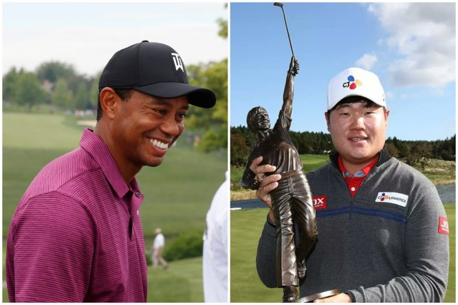 Tiger Woods. © Golffile | Brian Spurlock Sungjae Im. © Twitter Web.com