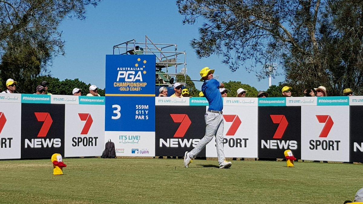 Cameron Smith, con el gorro amarillo típico de Lyle. © PGA of Australia