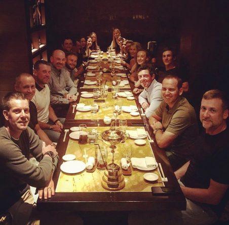 Cena del equipo europeo de la Ryder en Dubai © Thomas Bjorn