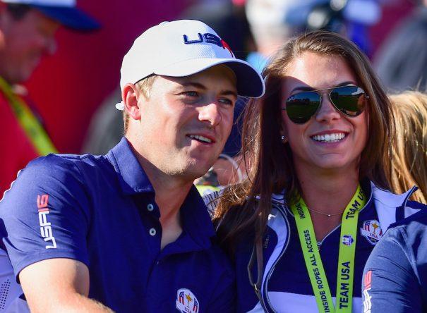 Jordan Spieth con su novia, Annie Verret © Golffile | Ken Murray