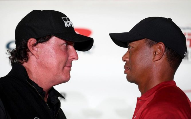 Phil Mickelson y Tiger Woods © The Match