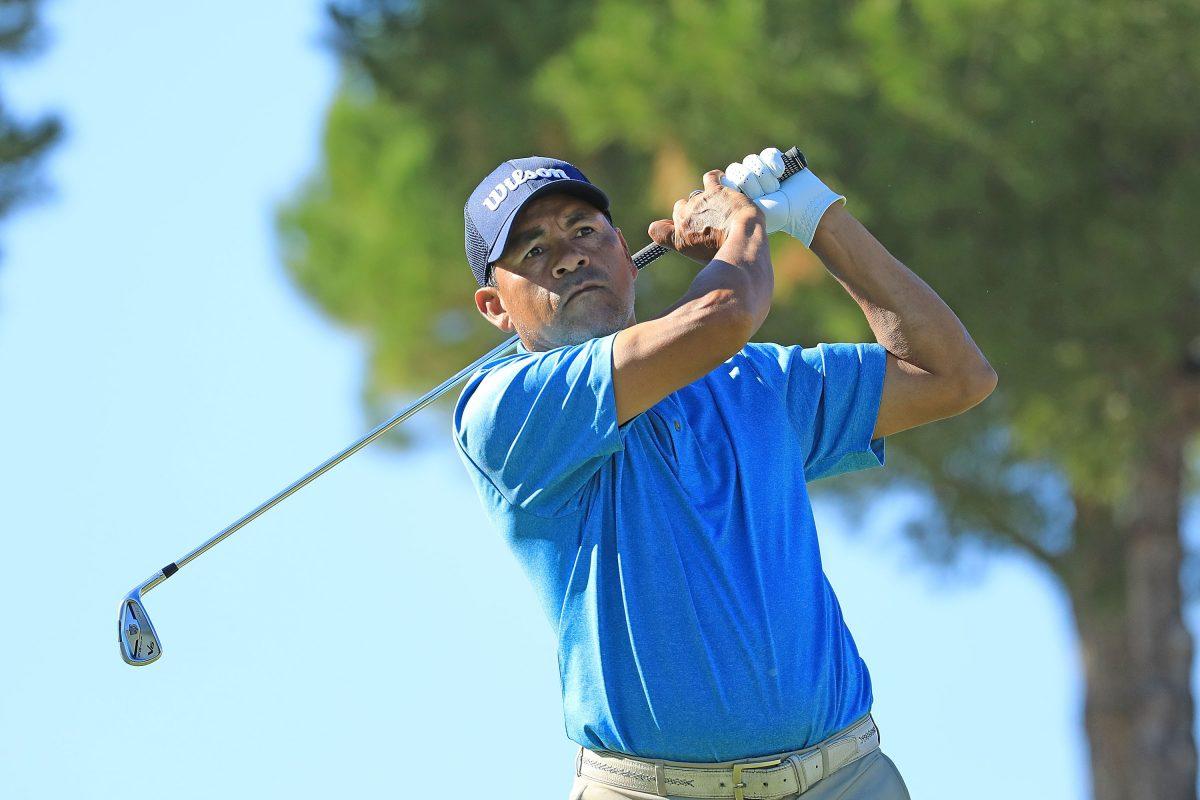 Rafael Gómez fue líder tras los primeros 18 hoyos con 64 golpes. Foto Getty Images