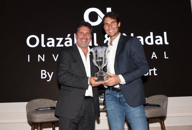 José María Olazábal y Rafael Nadal en la cena inaugural del torneo solidario. © Luis Corralo