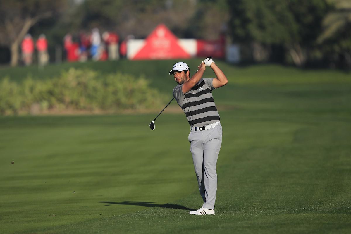 Adrián Otaegui en el Abu Dhabi HSBC Championship 2018. © Golffile | Thos Caffrey