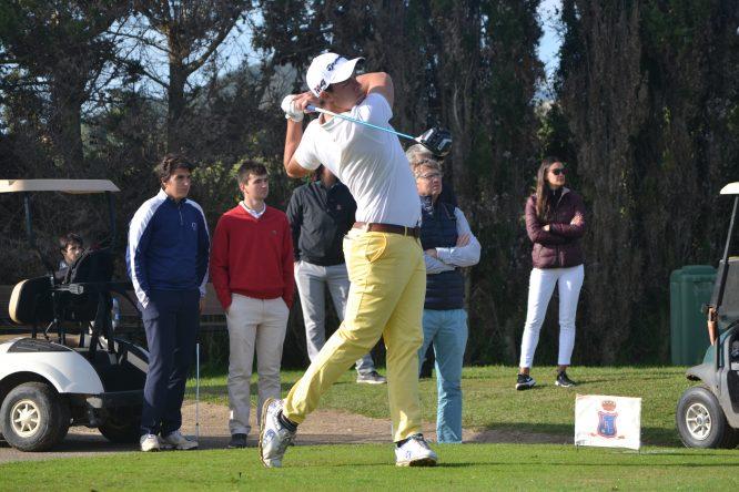 Víctor Pastor, durante la última ronda en Pula Golf. © Adolfo Juan Luna