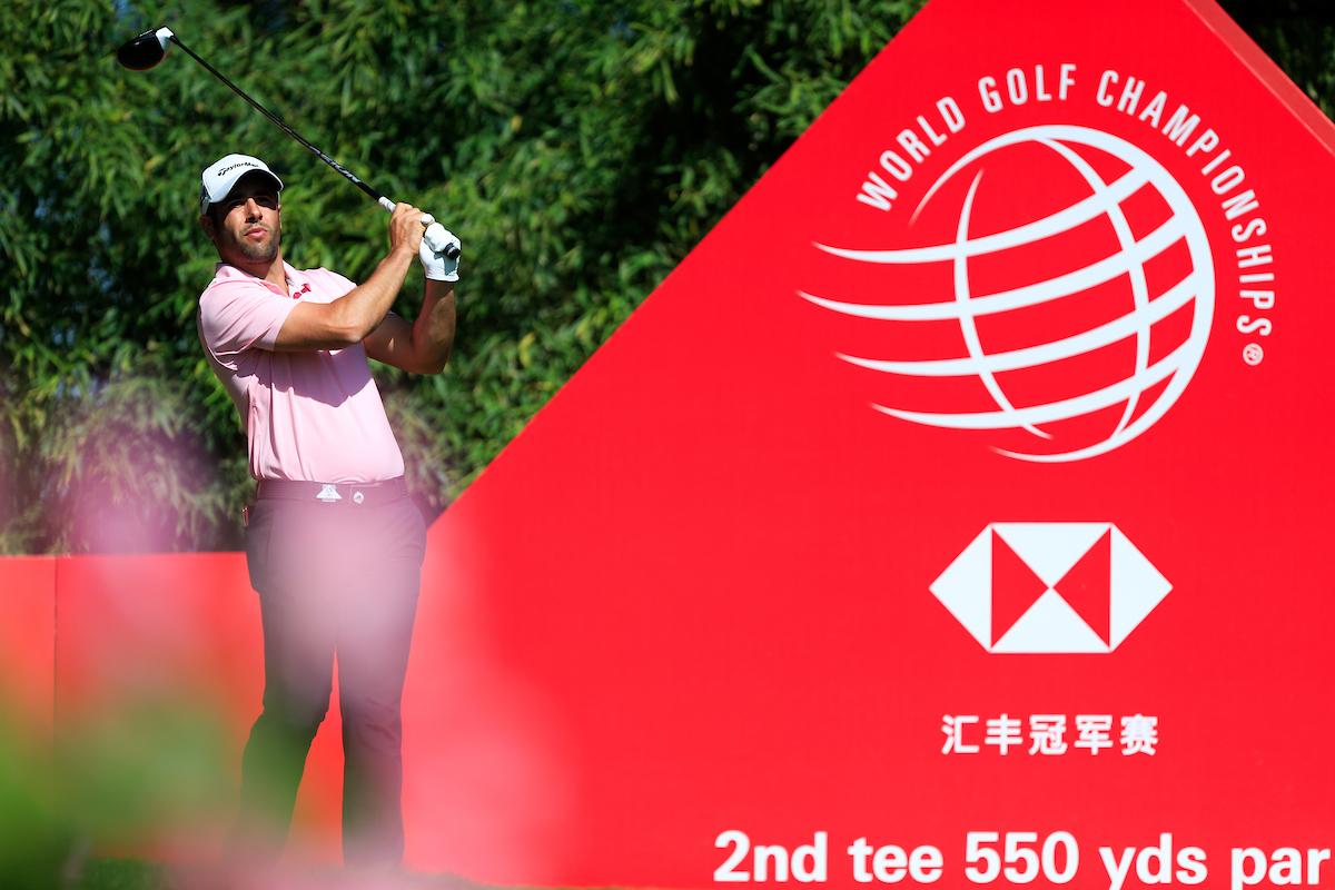 Adrián Otaegui en el WGC HSBC Champions 2018 en Sheshan Golf Club, Shanghai, China. © Golffile | Fran Caffrey