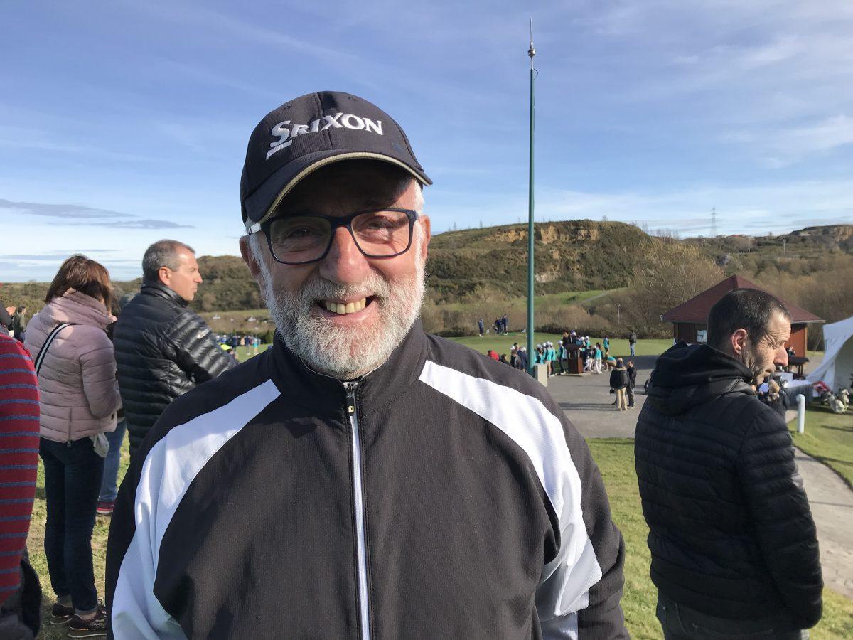 José Ramón, protagonista de nuestra historia, en Meaztegi Golf. © Tengolf