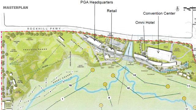 Gráfico del proyecto de la PGA de América en Frisco © PGA of América