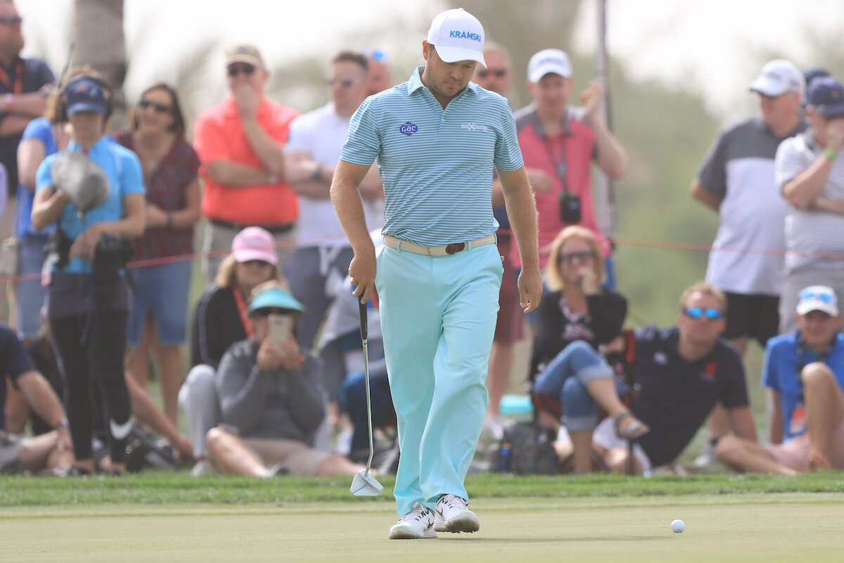 Richard Sterne en la jornada final en Abu Dhabi Golf Club. © Golffile | Thos Caffrey