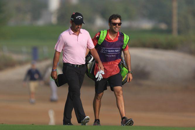 Pablo Larrazábal y Raúl Quirós, en el Dubai Desert Classic. © Golffile | Thos Caffrey
