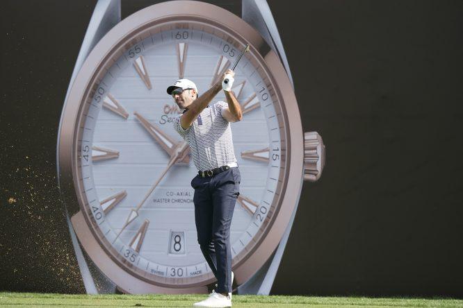 Álvaro Quirós esta semana en el Omega Dubai Desert Classic. © Golffile | Phil Inglis