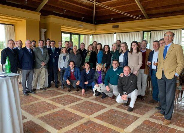 Reunión de la Real Federación Andaluza de Golf con los campos de Sevilla, Huelva y Cádiz Atlántica en el Real Club Sevilla Golf.