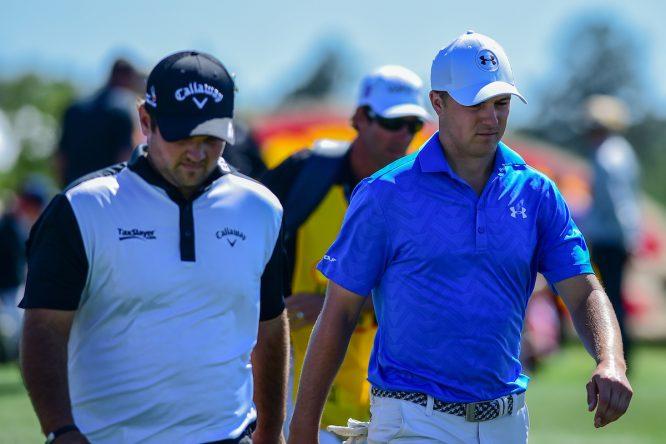 Jordan Spieth y Patrick Reed durante un pasado Shell Houston Open. © Golffile | Ken Murray