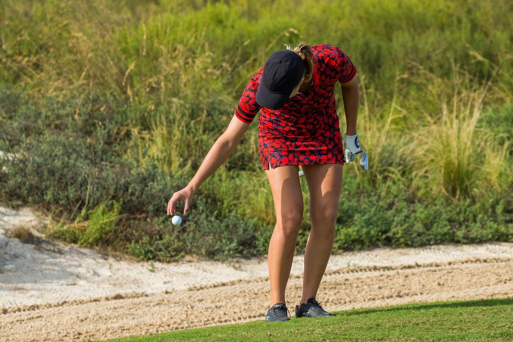 Camilla Lennarth, durante la ronda de prácticas en Abu Dhabi. © Tristan Jones1
