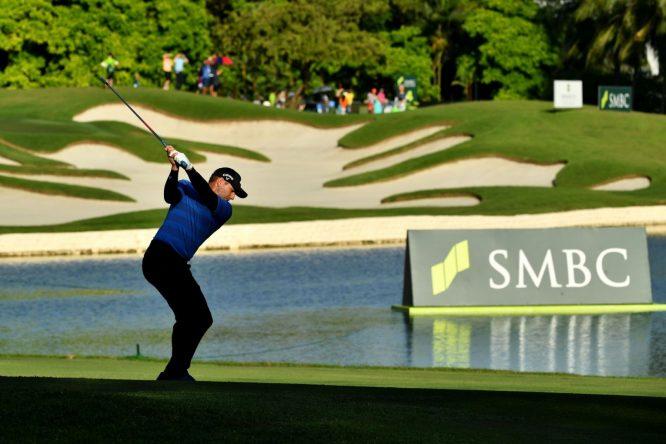 Sergio García, durante la segunda ronda en Singapur. © Asian Tour